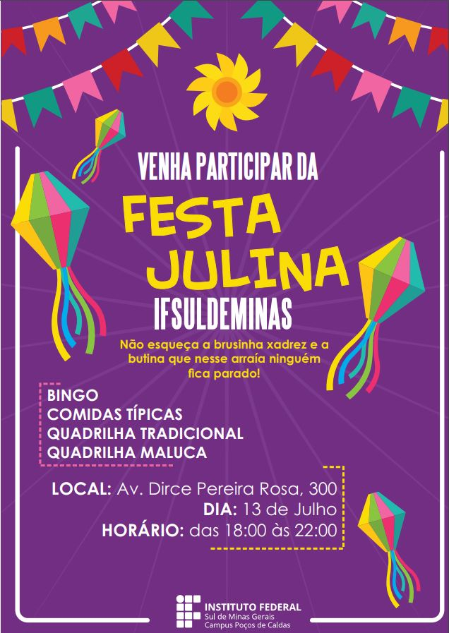 cartaz festa julina