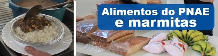 Alunos do Campus Poços podem solicitar entrega de marmitas e de alimentos do PNAE.