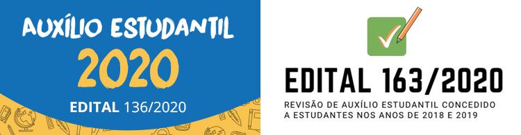 Estudantes contemplados no programa, entre 2018 e 2019, são convocados para revisão de auxílio estudantil para o ano 2021. Confira os editais abertos!